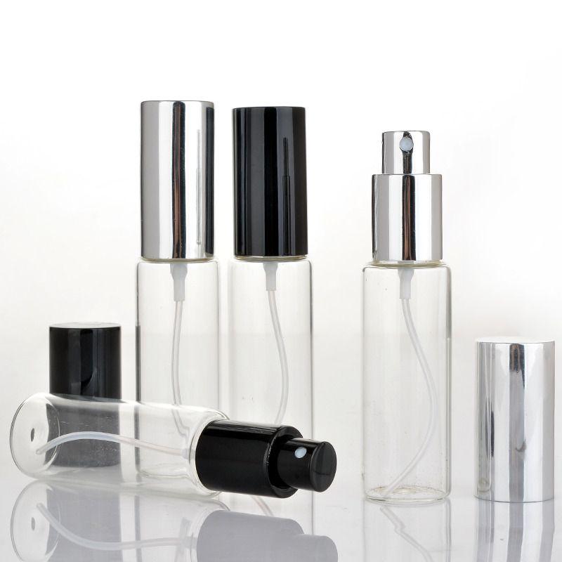 Wholesale 100 Pieces Lot 30ML Portable Glass Perfume Bottle With Aluminum Atomizer Empty Cosmetic Case For