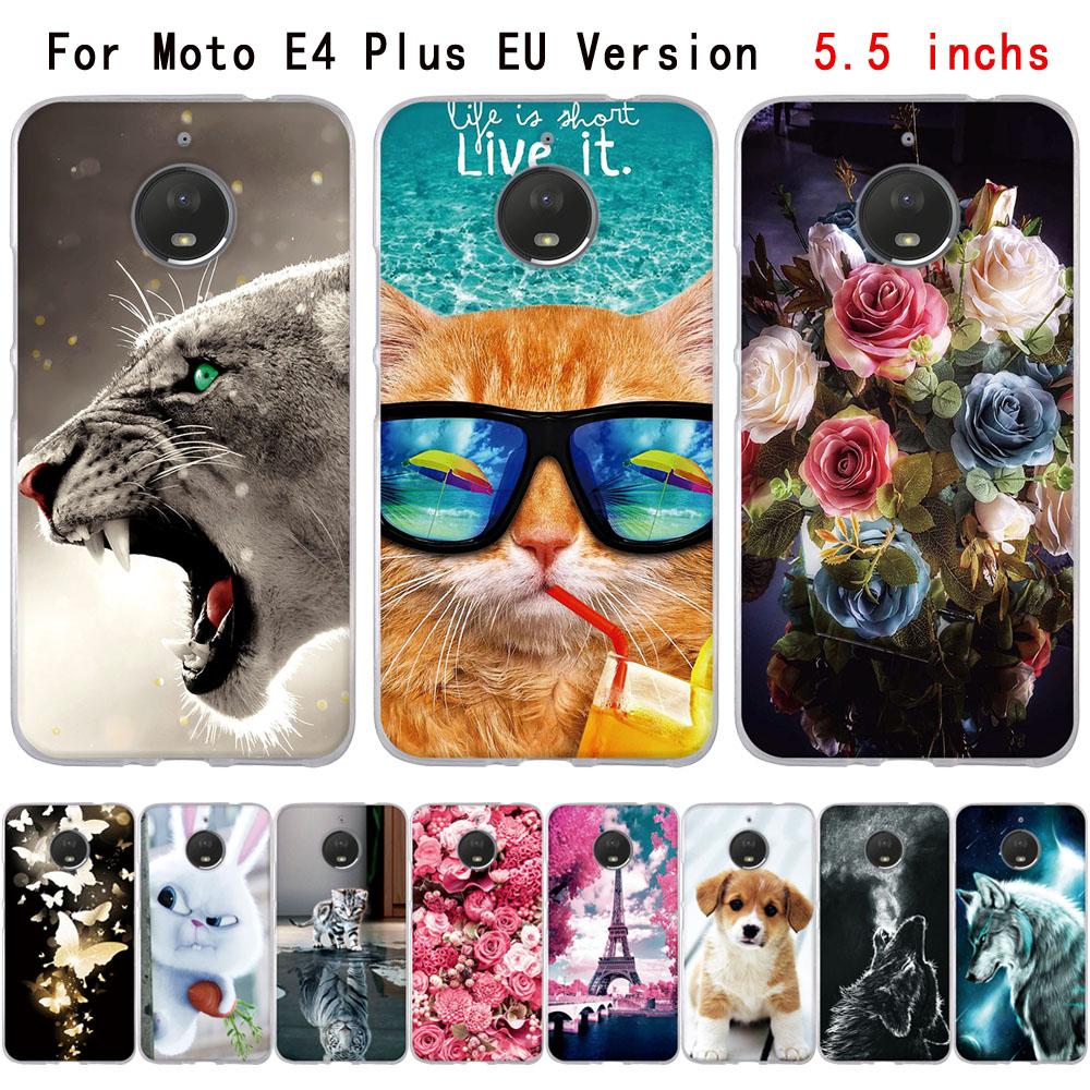 Для Motorola Moto E4 Plus милые 3D узор Обложка для MOTO E4 плюс (4th Gen) европа версия Чехол Мягкий Силиконовый ТПУ Shell
