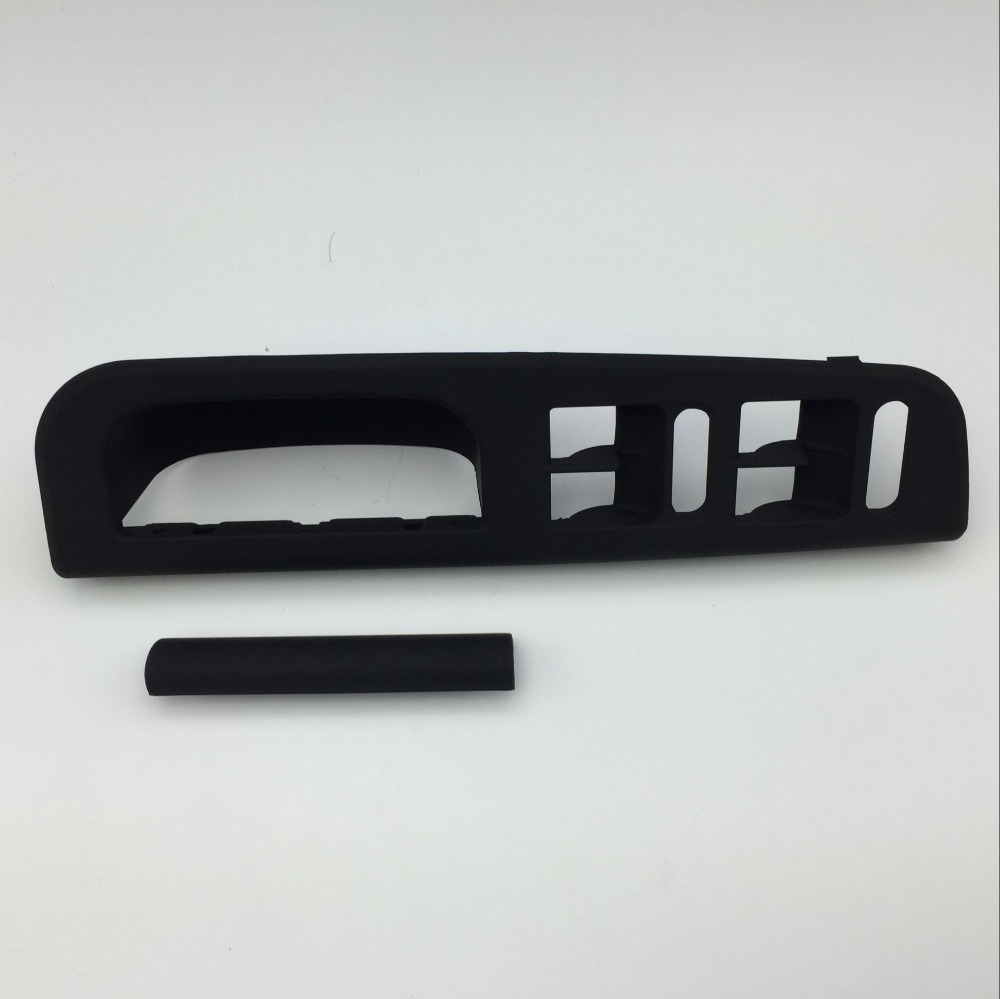 2 Pcs Soft Touching Black Master Window Switch Control Panel Bezel Door Handle Trim Cover for