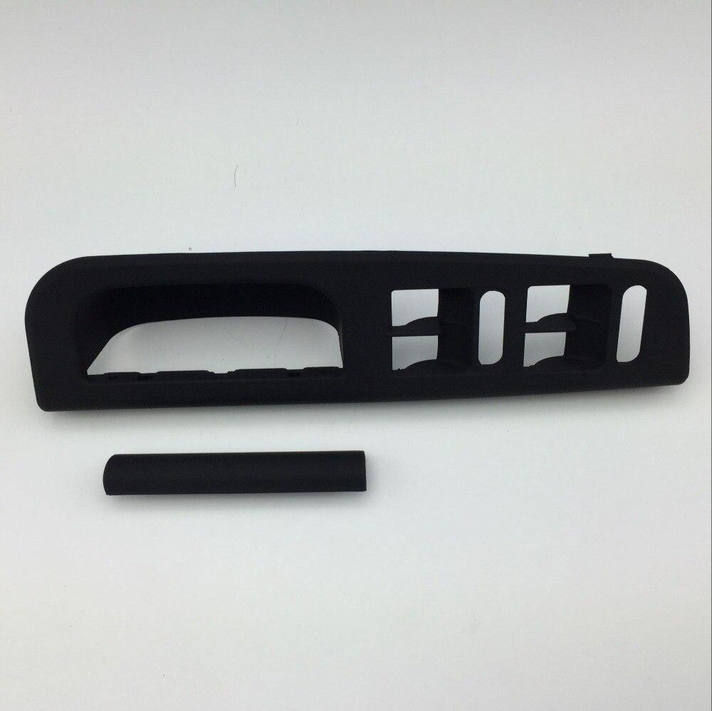 2 Pcs Toucher Doux Noir Maître Fenêtre Commutateur Panneau de Configuration Lunette Porte poignée Garniture Couverture pour Passat B5 Golf MK4 3B1 867 171 E