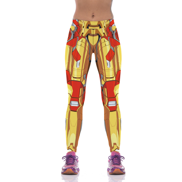 NEW 1070 Sexy Girl Women Comics The Avengers Iron Man Golden Woman 3D Prints High Waist Workout Fitness Leggings Pants