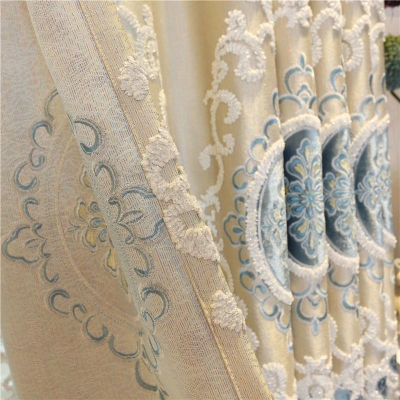 Europa na zamówienie luksusowe hafty Zasłony zaciemniające do - Tekstylia do domu - Zdjęcie 4
