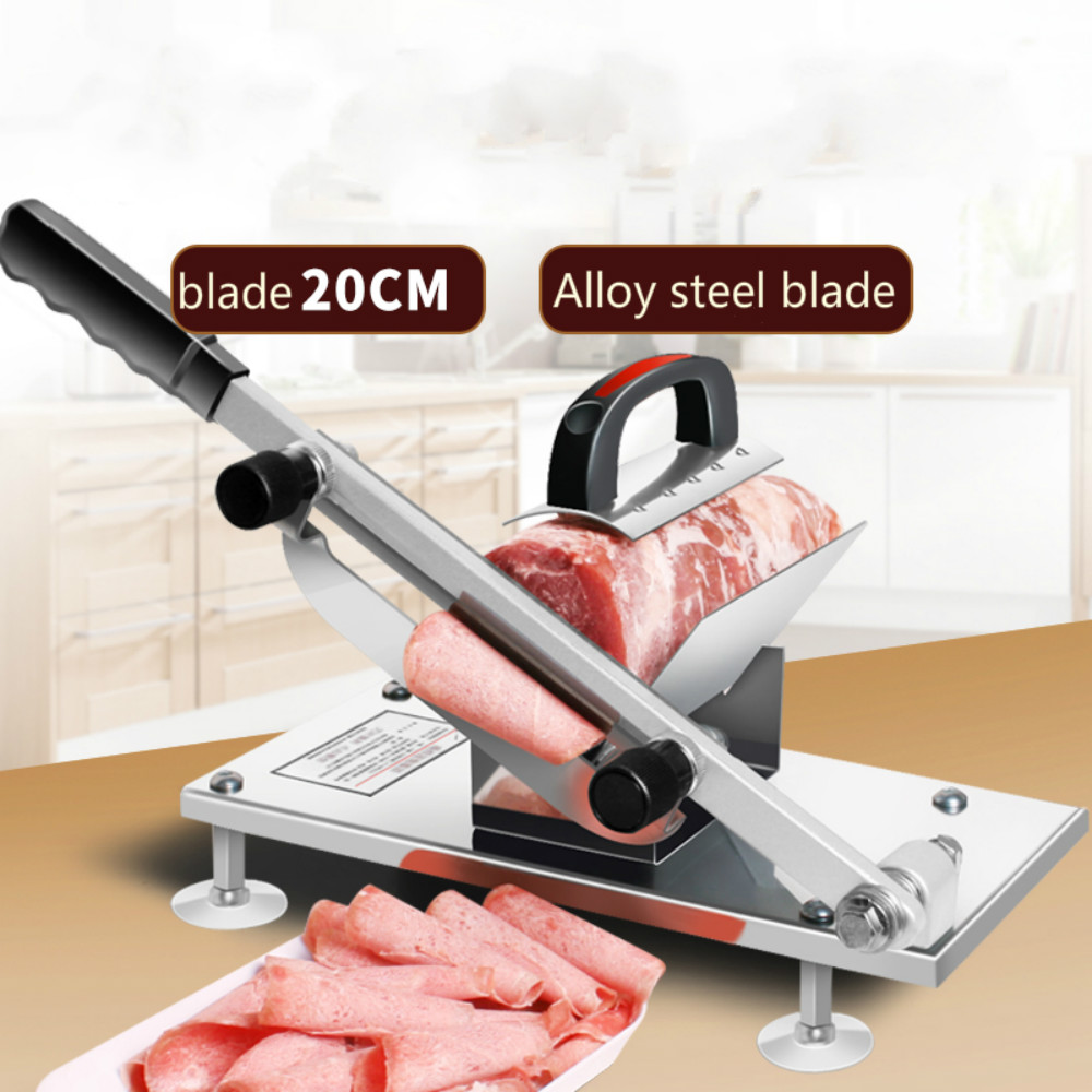 2018 meat saw Beef and mutton Slicer Manual Meat slicer Household Meat slicer Extended blade beef and mutton manual slicer household stainless steel cleaver beef meat cutter household frozen planer