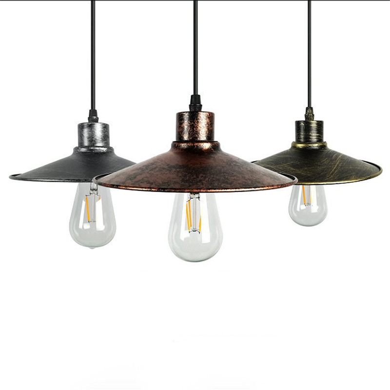 American Small umbrella style retro Iron E27 Pendant Light creative personality industrial wind Pendant Lamp for Restaurant Bar ascelina american retro pendant lights industrial creative rustic style hanging lamps pendant lamp bar cafe restaurant iron e27