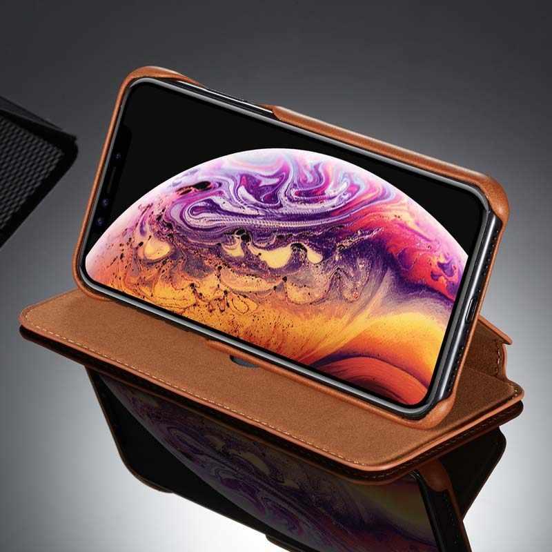 Cartera abatible Original de cuero de vidrio templado de negocios diseño de libro Retro magnético para Huawei P30 P30Pro P30Lite P20Pro P20 KS0246