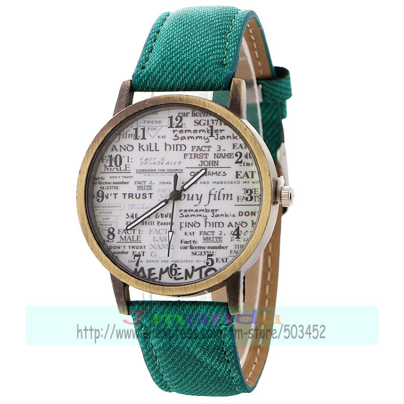 100 sztuk/partia 918821 łacińskiej bez Logo Jean skórzany zegarek Retro brązowy kolor zegarek Wrap Casual zegarek na rękę w Zegarki damskie od Zegarki na  Grupa 1