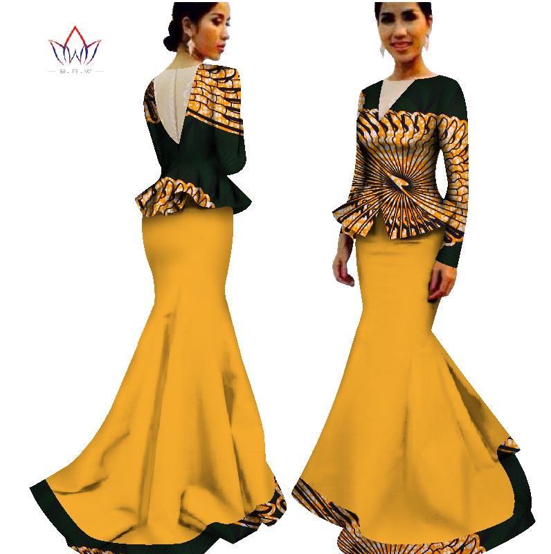 lantai-panjang bazin tradisional pakaian afrika pakaian musim panas - Pakaian kebangsaan - Foto 3