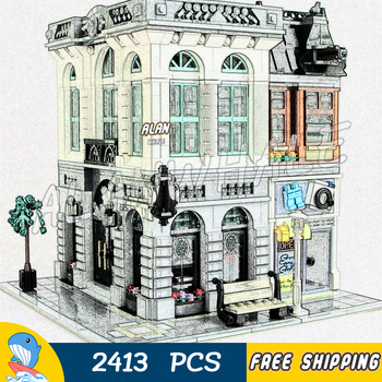 2413PCS Creator Brick Bank Street City Modular House Model Building Blocks 15001 Assemble Toys Compatible With LagoING