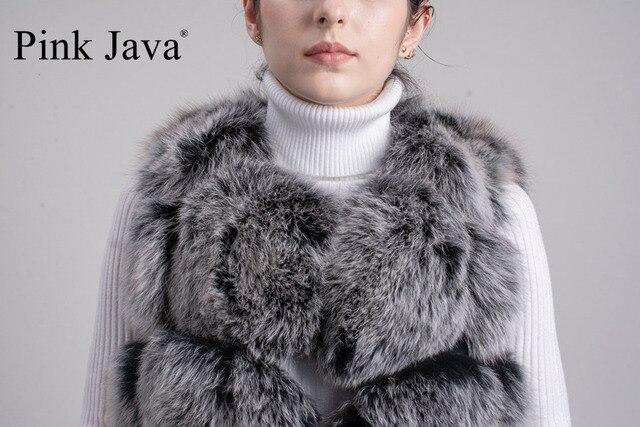 Pink Java QC8046 BIG SALE FREE SHIPPING  hot new  natural fox fur long vest  real fox fur gilet winter high quality women fox 6