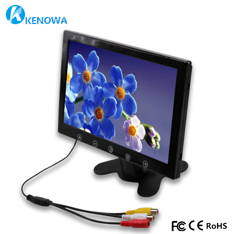 10.1 inch 1024x600 industrial Car Reverse Backup Rearview TFT LCD monitor 2 AV Input Screen Mini Computer PC Monitors Display new ew32f10ncw industrial output devices display lcd monitors