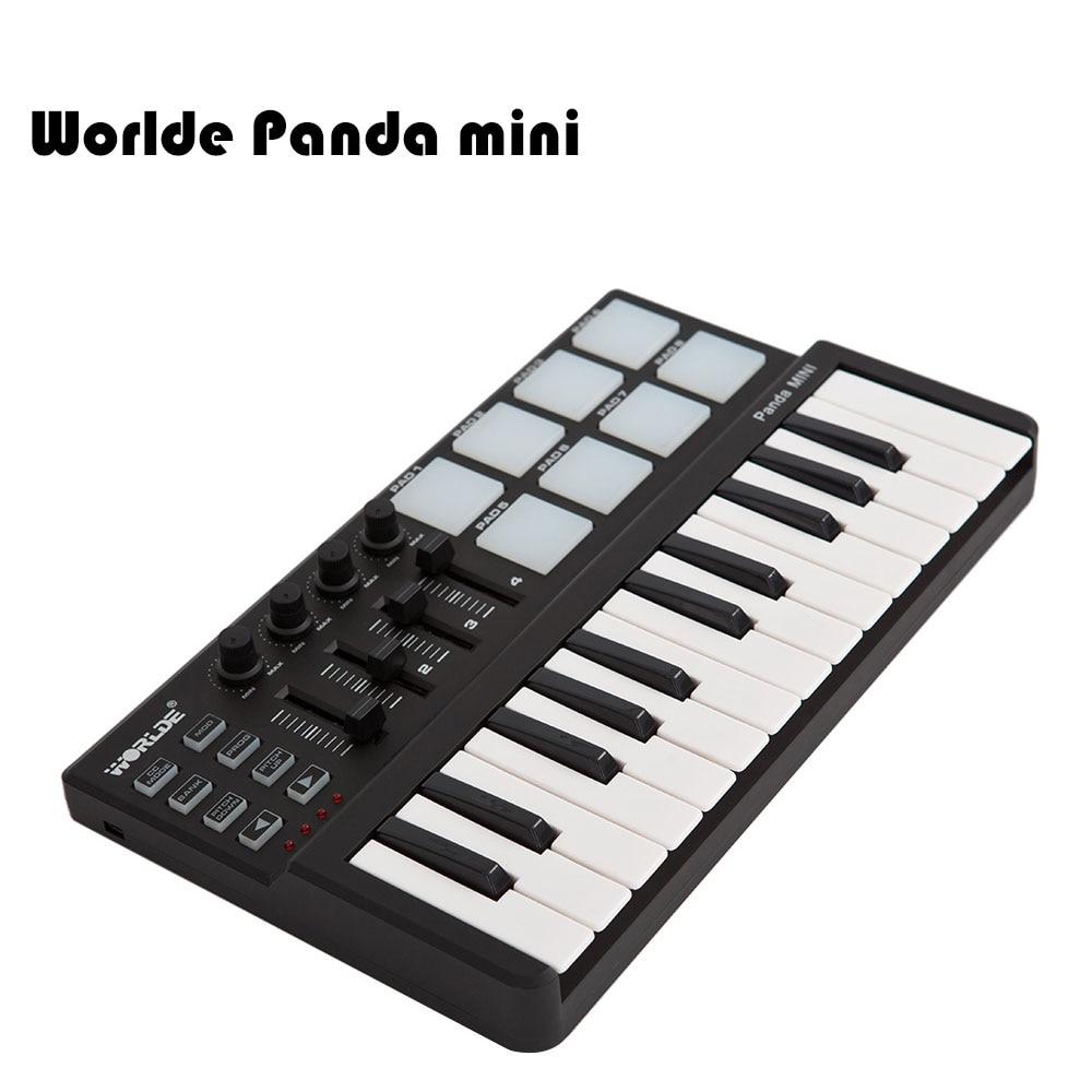 Worlde Panda mini Portable Mini 25 Key USB Keyboard and Drum Pad MIDI Controller-in Piano from Sports & Entertainment    1