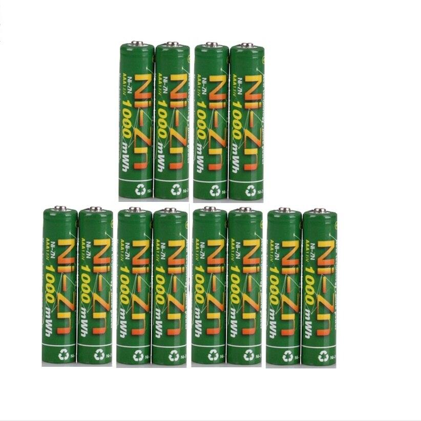 Recarregáveis da Bateria de 12 Baterias Pces Nizn v Aaa 1000mwh 1.6