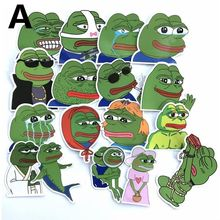 17 Pcs Pepe Sad Frog Mixed Series Stickers For Notebook PC Skateboard Bicycle Car Motorcycle DIY waterproof Toy Sticker(China)