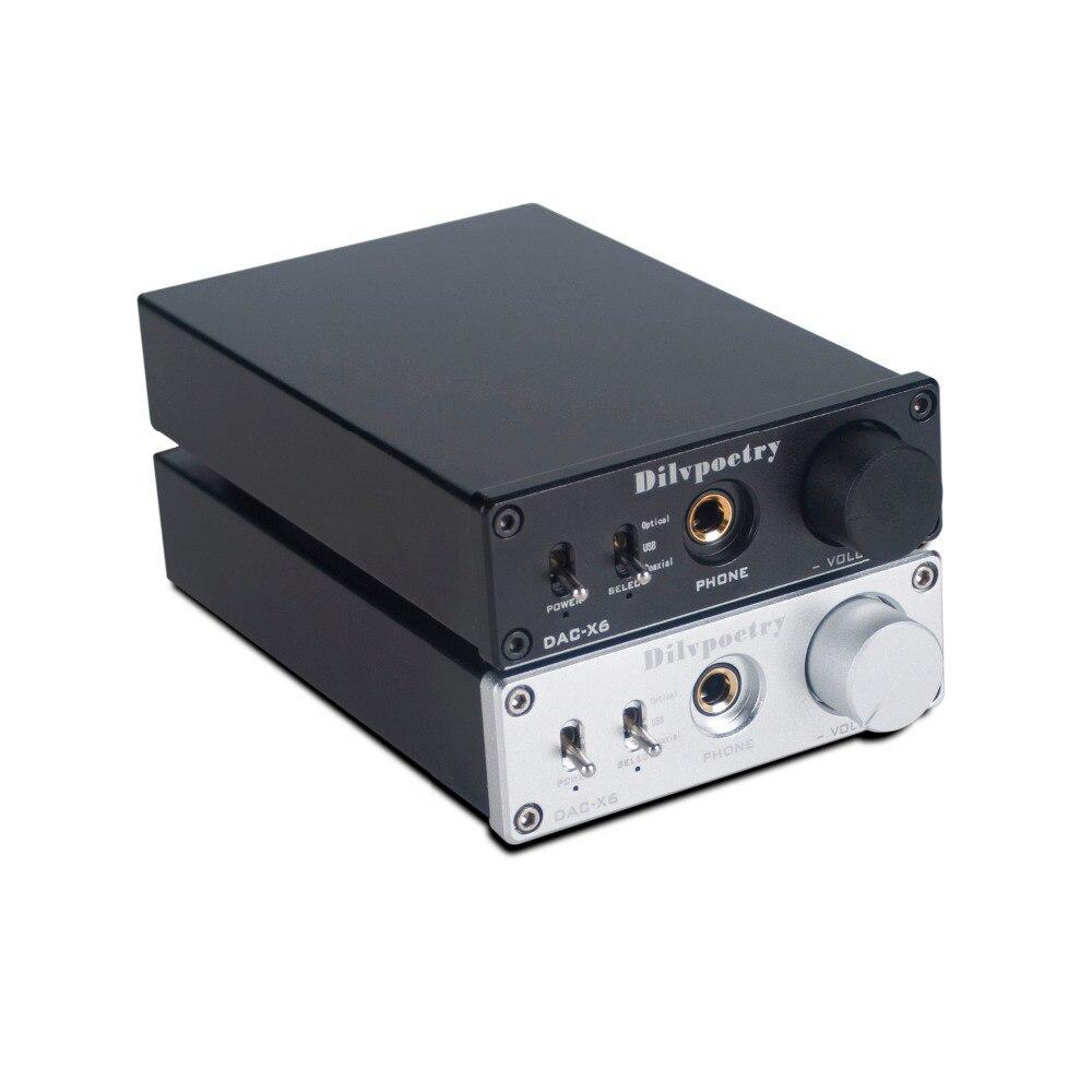 Стильная поэзия DAC-X6 лихорадка HiFi AMP CS8416 + AK4452 + JRC5532 USB волокна коаксиальный цифровой аудио декодер ЦАП 24BIT/192