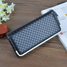Luxury brand 2017 new classic checkered ladies leather wallet long thin women fashion multi-card