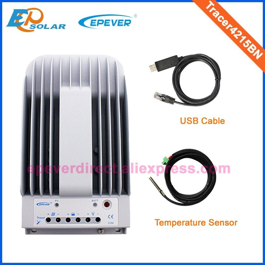 Контроллер заряда 40A MPPT Tracer4215BN с USB кабель и датчик температуры