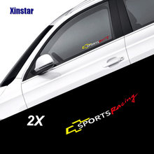 2 pcs araba windows sticker için Chevrolet Cruze Captiva Lacetti Aveo Orlando Epica Camaro(China)