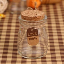 10pcs 100ML Pudding Glass Bottle Jam Jar  for Storage Candy Cans Storage Transparent Glass jars цены онлайн
