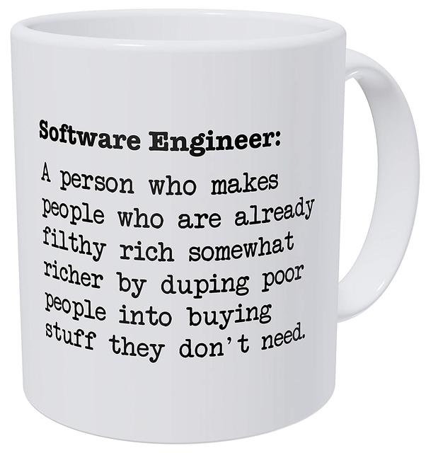 Engineer Computer 11 Ounces Funny Coffee Mug