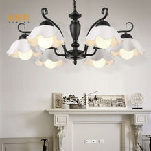 ФОТО Glass chandelier  light wrought iron chandelier bedroom living room dining lamps