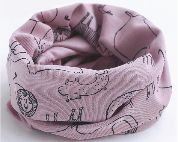 Новинка; сезон осень-зима; шарф из хлопка для девочек; Детский шарф; нагрудный шарф для мальчиков и девочек с круглым кольцом; милый детский шарф с воротником; Bufandas - Цвет: purple lion