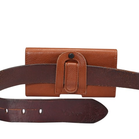 OEEKOI Belt Clip PU Leather Waist Holder Flip Cover Pouch Case for Karbonn Mobiles Titanium S29 Elite/S9 Lite 5.5 Inch Multan