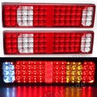 12V 24V 52 LED Trailer Truck Van Camper Rear Tail Stop Fog Indicator Light Led Trailer