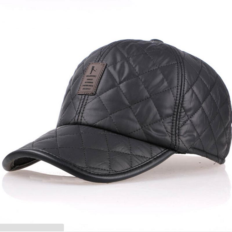 High quality 2017 baseball cap men autumn winter Fashion Caps waterproof fabric Hats Thick warm earmuffs baseball cap 4 colors aorice autumn winter men caps genuine leather baseball cap brand new men s real cow skin leather hats warm hat 4 colors hl131