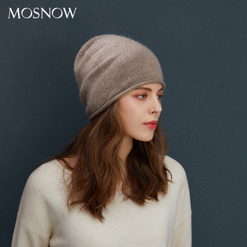 Winter   Beanies   Wool Winter Hats For Women Stretchy Hats 2019 Solid Color   Beanies   Female Roll Up Hats