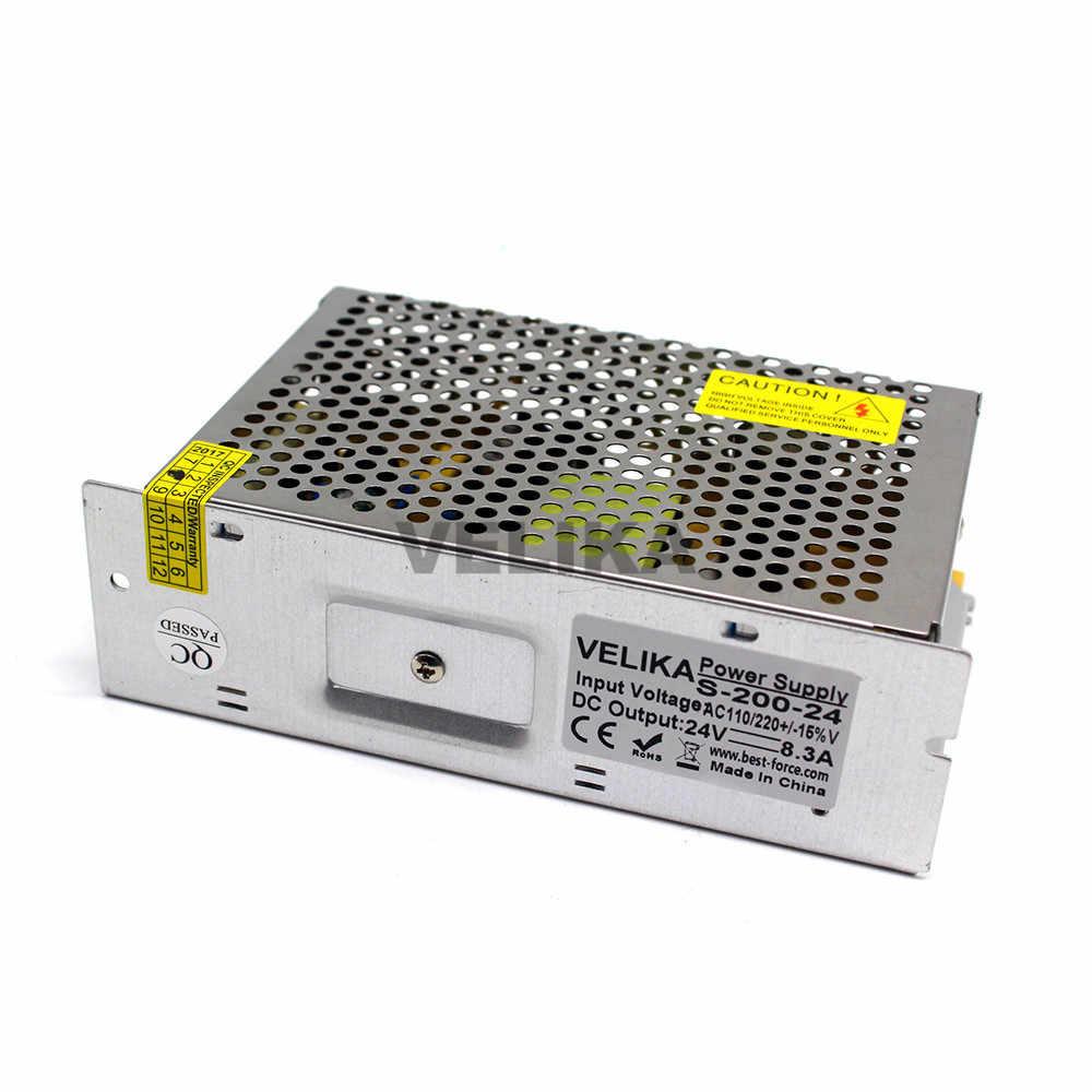 Малый объем один Выход импульсный источник питания светодиодного табло DC24V 8.3A 200 Вт импульсный трансформатор 110 V 220 V AC-DC импульсивный источник питания для станка с ЧПУ DIY светодиодный светильник CCTV