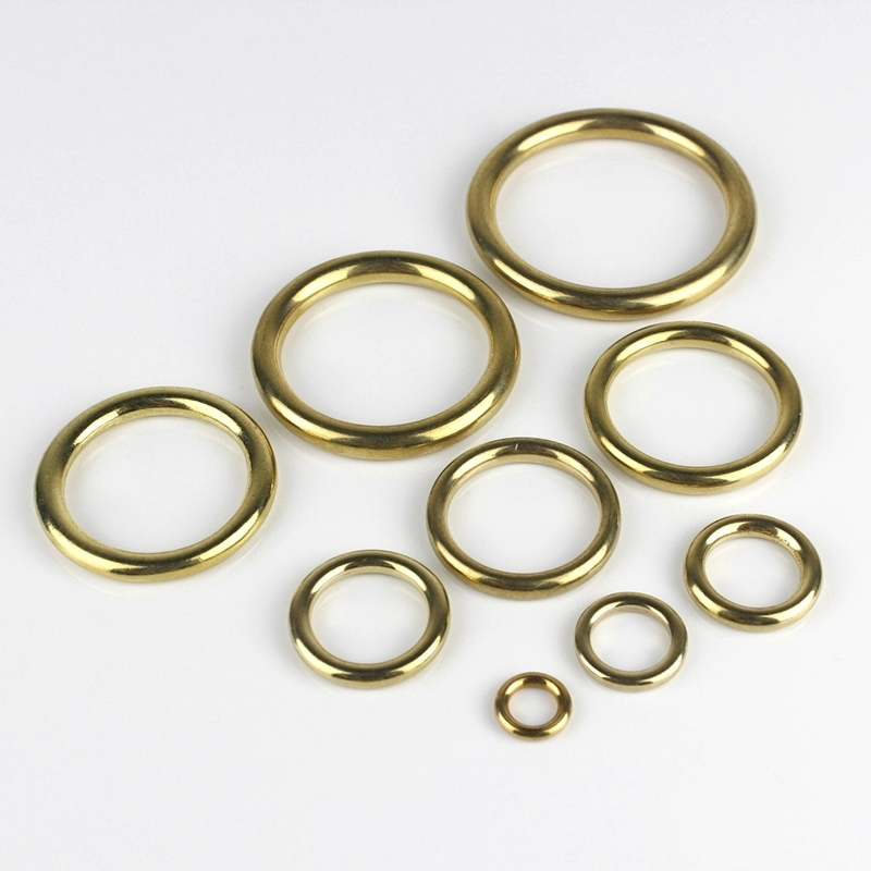 Solid Brass Cast O Ring Seamless Round Buckle For Webbing Leather Craft bag strap belt font