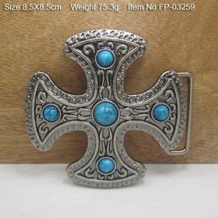Пряжка с перекрестным ремешком Bullzine с камнями, антикварная серебряная FP-03259, подходит для ремня шириной 4 см