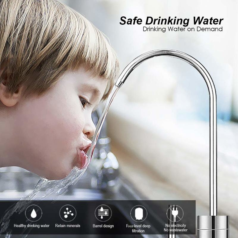 Countertop Reverse Osmosis Water Filtration System 4 RO Water Filter Simple Set Up Faucet Filter Express Water-White FRIDGE WATER FILTERS