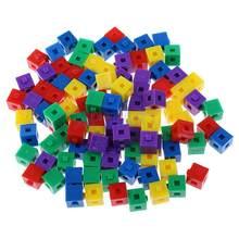 100x çocuk çocuk yapı seti istifleme küpleri tuğla bulmacalar yaratıcı parti oyuncak