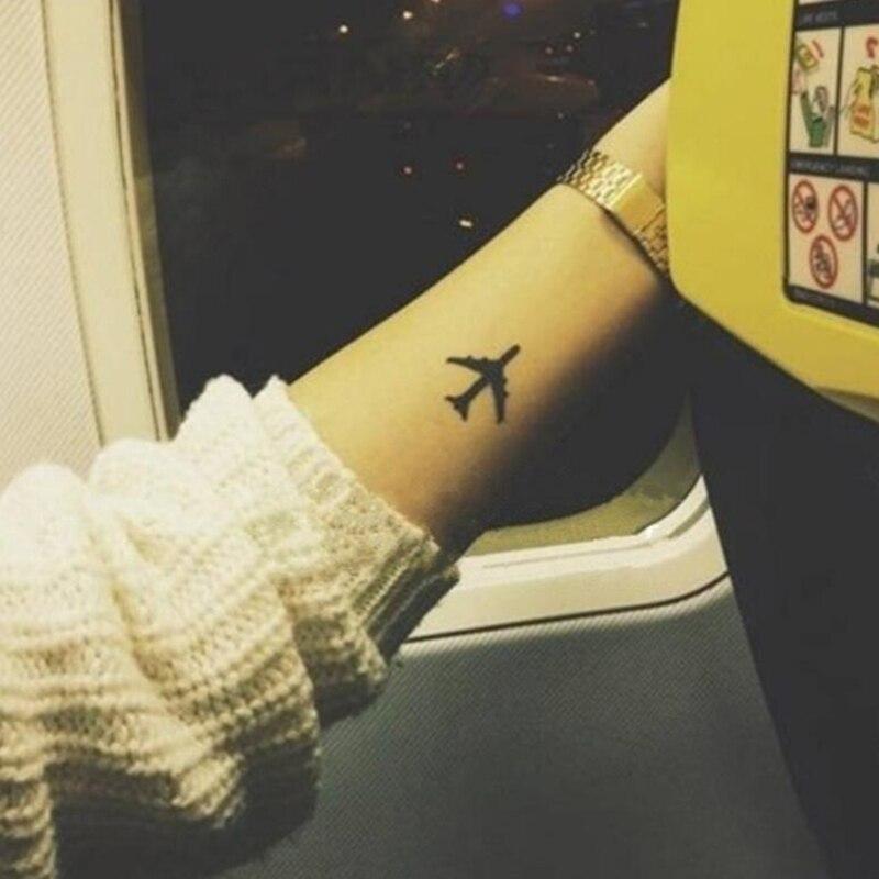 Temporary Airplane Tattoo For Men Women Waterproof Stickers Makeup
