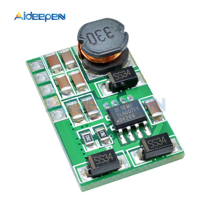 3 V-18 V to+-5V 6V 9V 12V 15V 24V 1.8A 2A положительный и отрицательный двойной Вт конвертер постоянного/переменного тока, повышающий наддува модуль Плата регулятора - Цвет: 5v without pin