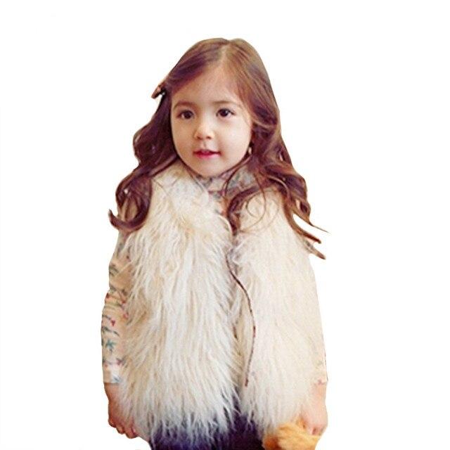 a1a78f7d9 Navidad niños de piel falsa Chaleco para niñas ropa de invierno 2016 otoño  caliente Cabritos de