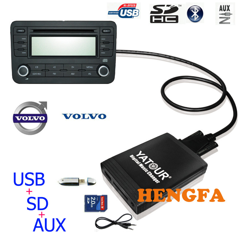 ФОТО Yatour Car Digital  Music Changer USB MP3 AUX adapter For Volvo SC-XXX radios Mini Din yt-m06