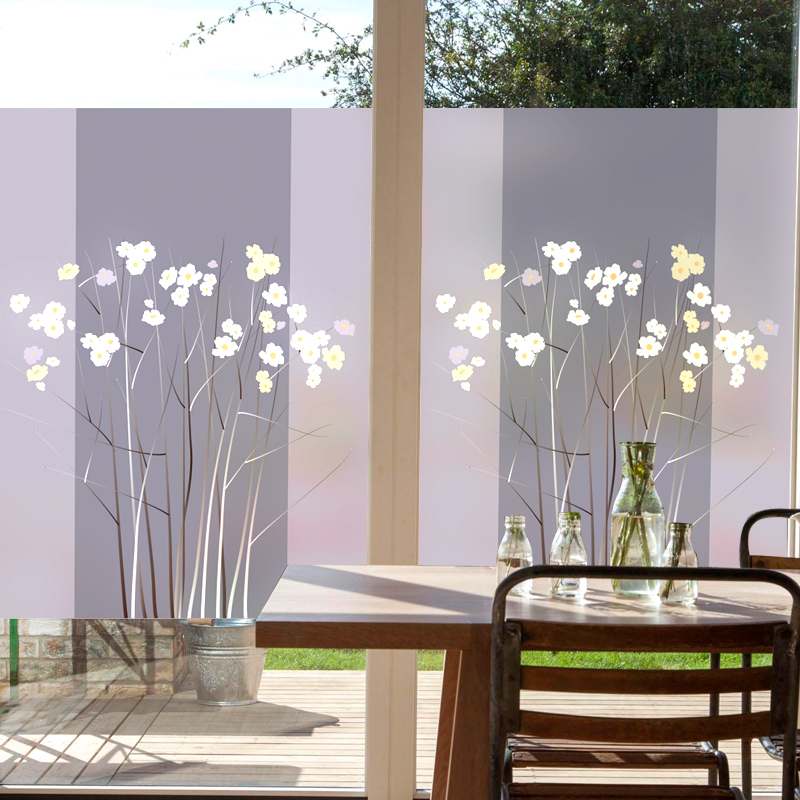 Custom Static Cling Stained Glass Window Film Frosted & Opaque Privacy Home Decor Digital print Removable BLT128 Dreams Linked