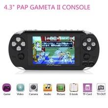 """Nuevo 4.3 """"PAP Gameta II de 64 Bits Consola de Juegos Portátil de Juegos Portátil jugador con 600 Juegos Incorporados en Regalos de Cumpleaños para niño niños"""