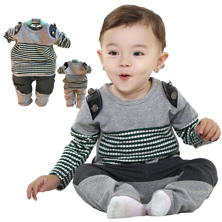 Anlencool New Spring Valley Infants Pose New Fashion Black And White Stripes Baby Clothing Free Shipping Baby Boy Clothes Sets Baby Boys Clothes Set Baby Boy Clothesbaby Boy Clothes Fashion Aliexpress