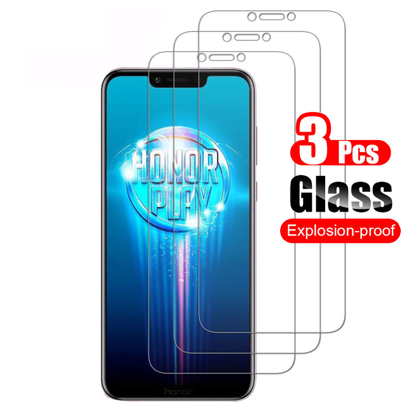3Pcs Tempered Glass For Honor Play Screen Protector Shield For Honor Play Protective Glass Bubble Free Film 9H