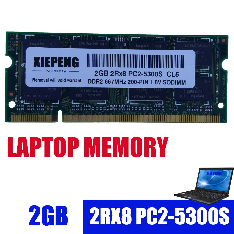 Laptop Memory 2GB 2Rx8 PC2-5300S 667MHz <font><b>DDR2</b></font> <font><b>RAM</b></font> 2g 667 MHz pc2 5300 SODIMM for HP V3700 V3800 V3900 2210b 2510p TX1400 <font><b>Notebook</b></font> image