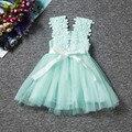 Flor Para Niños Baby Girls Encaje Vestido Princesse Estilo Informal de Verano Vestidos de Niña de Niño Coreano Chaleco Niñas Niños Ropa