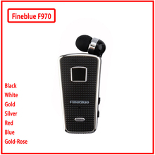 2018 Fineblue F970 Portable in-ear Wireless Bluetooth neck clip telescopic type business Sport Earphone Vibration Wear Clip hot original fineblue f910 wireless bluetooth earphone headset in ear vibrating alert wear clip bluetooth earphone for phone