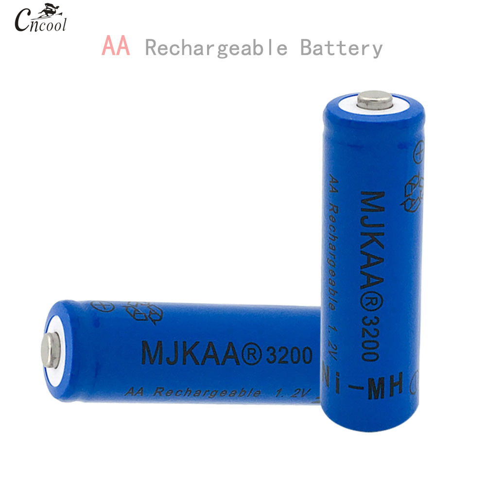 12Pcs AA 1.2V Ni-MH 3200mAh Battery 2A Batteries 1.2V AA Rechargeable Battery NI-MH battery for Remote control Toys LED lights
