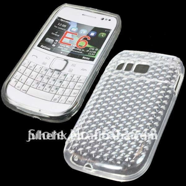 newest 88ba8 63113 US $84.21 |Diamond TPU Case E6 Gel Skin TPU Cover For Nokia E6 on  Aliexpress.com | Alibaba Group