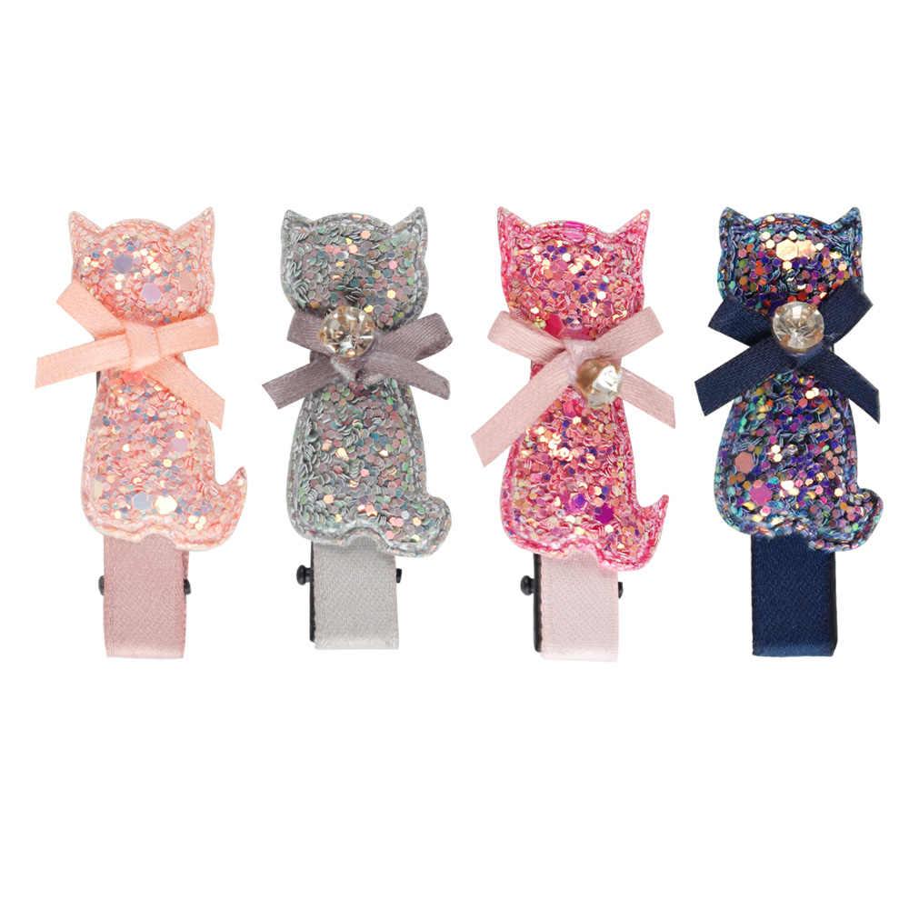 Cute Mini Girl Hair Bows Different Size Barrettes For Kids Glitter Clearance Hair Clips Floral Headwear Hair Accessories