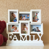 Studio 6 Hole Family 3 Inch Photo Frame Combined Conjoined WALLET PHOTO Wall Table European Children