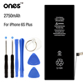 ONES brand new 0 Cycle Real 2750MAh Mobile Phone Battery for 5.5 inch Apple Iphone 6s plus battery Replacement 6S+kit tools